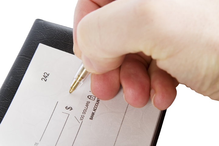 Payments can be made by Cheque